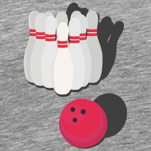 Bowling with bowling ball Tank Tops - Men's Premium T-Shirt