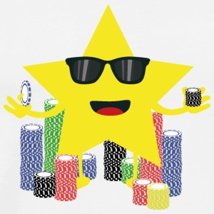Lucky Star med pokerchips Langærmede T-shirts - Herre premium T-shirt