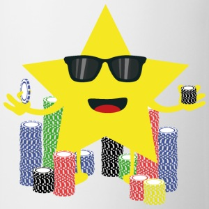 Lucky Star med pokerchips T-shirts - Kop/krus