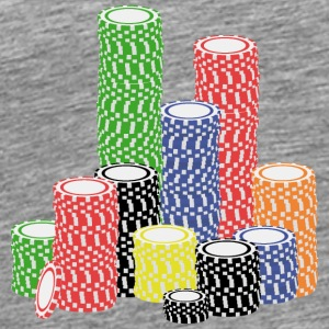 poker chips Tops - Men's Premium T-Shirt