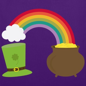 Rainbow gold and leprechaun Hat Tops - Tote Bag