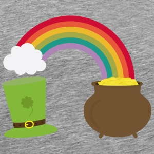 Rainbow gold and leprechaun Hat Other - Men's Premium T-Shirt