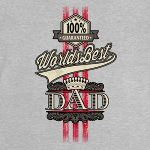 RAHMENLOS Geschenk Vatertag - Herrentag - Worlds Best Dad red gold crown Langarmshirts - Baby T-Shirt