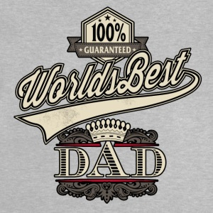 RAHMENLOS Geschenk Vatertag - Herrentag - 100 percent worlds best dad crown red T-Shirts - Baby T-Shirt