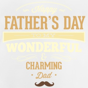 RAHMENLOS Geschenk Vatertag - Herrentag - Happy Fathers day charming dad - retro T-Shirts - Baby T-Shirt