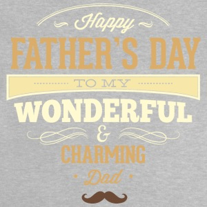 RAHMENLOS Geschenk Vatertag - Herrentag - Happy Fathers day charming dad - retro creme T-Shirts - Baby T-Shirt