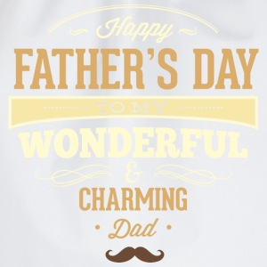 RAHMENLOS Geschenk Vatertag - Herrentag - Happy Fathers day charming dad - retro T-Shirts - Turnbeutel
