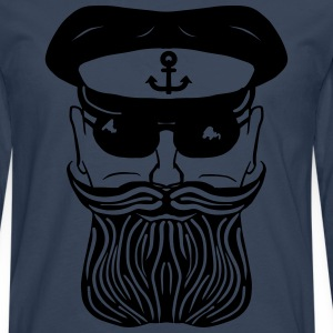Captain Beard T-Shirts - Men's Premium Longsleeve Shirt