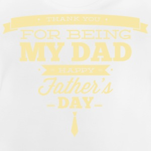 RAHMENLOS Geschenk Vatertag - Herrentag - Thank you DAD - fathers day creme Langarmshirts - Baby T-Shirt