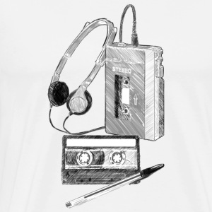 Walkman Cassette and Pen - Men's Premium T-Shirt