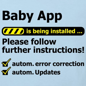 Baby App loading funny birth pregnancy Baby Bodys - Kinder Bio-T-Shirt