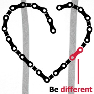 be different Kette Herz funny Chain Heart T-Shirts - Männer Premium Hoodie