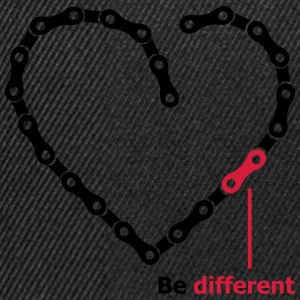 be different Kette Herz funny Chain Heart T-Shirts - Snapback Cap