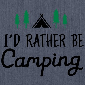 I\\\'d Rather Be Camping T-shirts - Skuldertaske af recycling-material