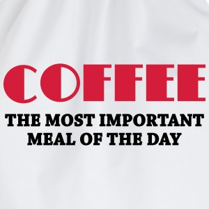 Coffee - the most important meal Long sleeve shirts - Drawstring Bag