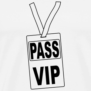 pass_vip_pv1 Buttons - Men's Premium T-Shirt