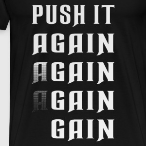 Push it again gain white Vêtements de sport - T-shirt Premium Homme