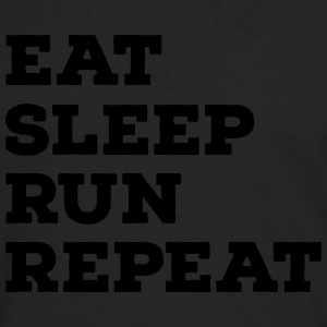 Eat, Sleep, Run, Repeat T-Shirts - Men's Premium Longsleeve Shirt