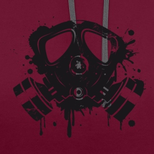 Gas mask graffiti T-Shirts - Contrast Colour Hoodie