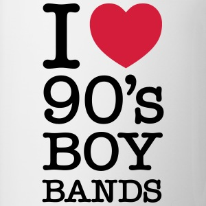 I Love 90\'s Boy Bands Camisetas - Taza