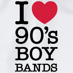 I Love 90\'s Boy Bands T-shirts - Sportstaske