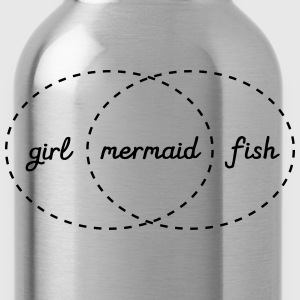 Girl - Mermaid - Fish (Intersection) T-Shirts - Water Bottle