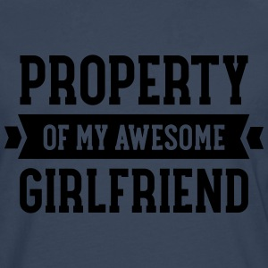 Property Of My Awesome Girlfriend T-shirts - Långärmad premium-T-shirt herr