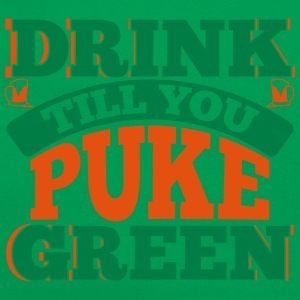 St. Patrick's Day: DRINK TILL YOU PEEK GREEN T-Shirts - Retro Tasche