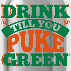 St. Patrick's Day: DRINK TILL YOU PEEK GREEN T-Shirts - Trinkflasche