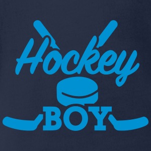 Hockey boy T-Shirts - Baby Bio-Kurzarm-Body
