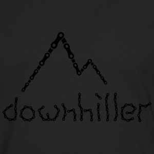 crazy Ketten Text Downhiller Berge Chain Mountains T-Shirts - Männer Premium Langarmshirt