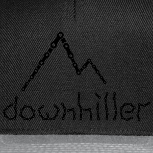 crazy Ketten Text Downhiller Berge Chain Mountains T-Shirts - Snapback Cap