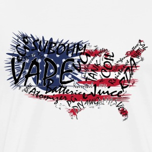 Vape T-shirt Words USA Delantales - Camiseta premium hombre