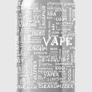 Vape T-shirt Words White Other - Water Bottle