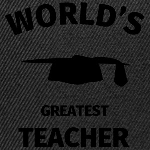 World's Greatest Teacher Camisetas - Gorra Snapback