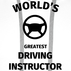 World's Greatest Driving Instructor Tee shirts - Sweat-shirt à capuche Premium pour hommes