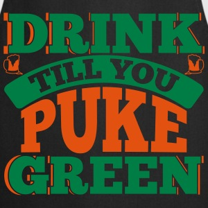 St. Patrick's Day: DRINK TILL YOU PEEK GREEN T-shirts - Keukenschort