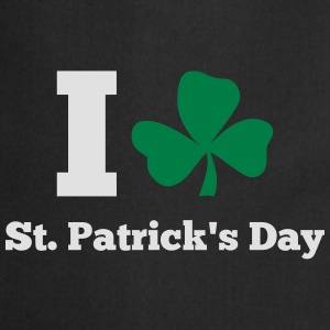 I love St. Patrick's day T-shirts - Keukenschort