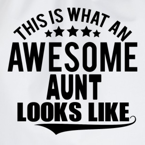 THIS IS WHAT AN AWESOME AUNT LOOKS LIKE T-Shirts - Drawstring Bag