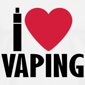 Vape shirt I Love Vaping Hoodies & Sweatshirts - Men's Premium T-Shirt