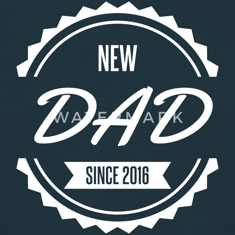 new dad since 2016 Tee shirts - T-shirt Homme