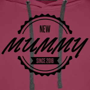 new mummy since 2016 T-Shirts - Men's Premium Hoodie