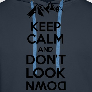 Keep calm and don't look - mountain Tee shirts - Sweat-shirt à capuche Premium pour hommes