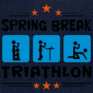 spring break triathlon Tee shirts - Casquette snapback