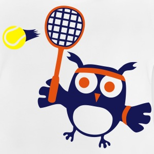 süße Eule Tennis Spieler Owlet Player Tennis Ball T-Shirts - Baby T-Shirt