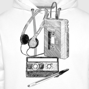 Walkman, Cassette and Pen - Men's Premium Hoodie