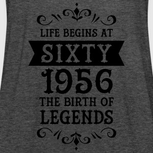 Life Begins At Sixty - 1956 The Birth Of Legends T-shirts - Vrouwen tank top van Bella
