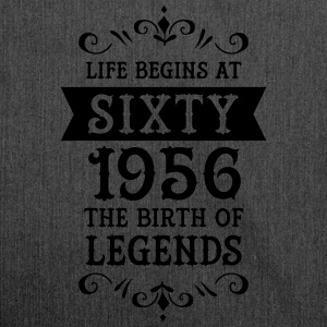 Life Begins At Sixty - 1956 The Birth Of Legends T-shirts - Schoudertas van gerecycled materiaal
