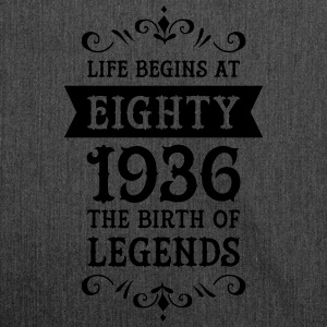 Life Begins At Eighty - 1936 The Birth Of Legends Camisetas - Bandolera de material reciclado
