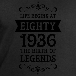 Life Begins At Eighty - 1936 The Birth Of Legends Tazas y accesorios - Sudadera hombre de Stanley & Stella
